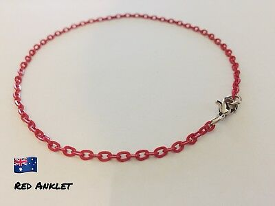 Aronas Red &Silvertone Customised Anklet Ankle Bracelet Foot Beach Feet Jewelry