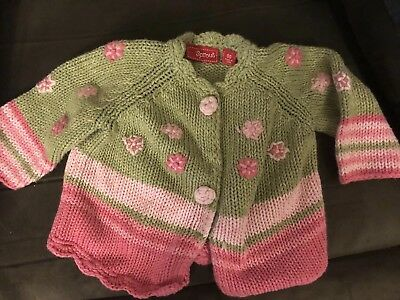 Baby Girls Sprout knitted Cardigan Jacket Size 00 Like New Dragonfly