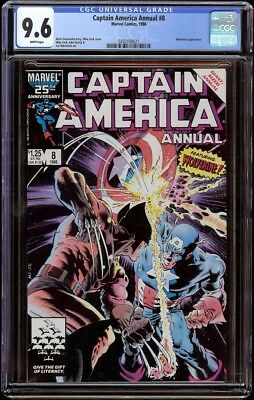 Captain America Annual # 8 CGC 9.6 White (Marvel, 1986) Mike Zeck cover