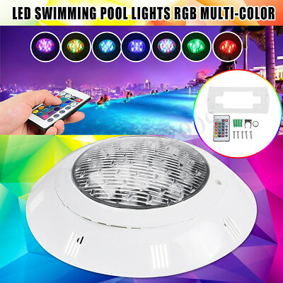 AC 24V LED Swimming Pool Spa RGB Wall-mount Light Underwater IP68+Remote Control