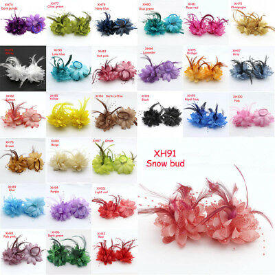 28 color feather pearl / hair clip / Corsage / brooch / wrist flower wedding NEW