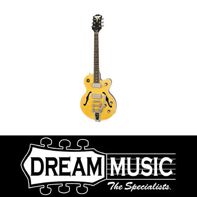 Epiphone Wildkat Bigsby Vibrotone Antique Natural Hollowbody Electric Guitar