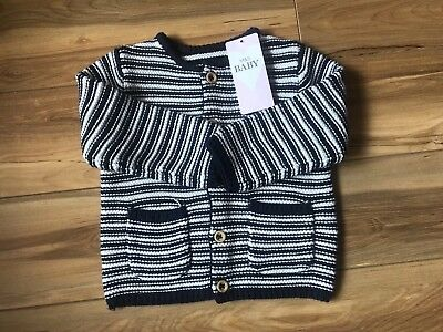 Marks and Spencer Boy's Cardigan Navy Mix (9-12 Months) BNWT