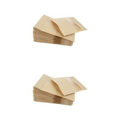 100x Kraft Paper Bags Stand Up Pouch Food Zip Lock Packaging 12x20+4&14x20+4