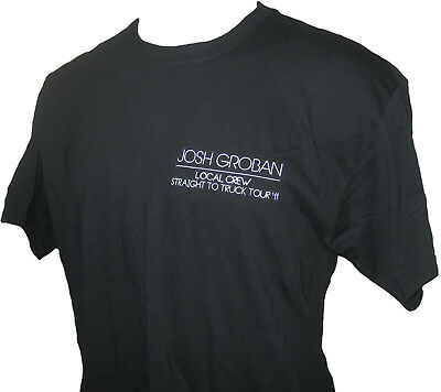 Josh Groban 2011 Straight to Truck Tour Canadian Concert Local Crew T-shirt L