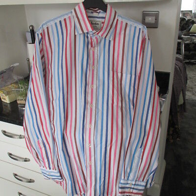 "Mens Boden L/s Shirt 17"" White/pink Multi Striped Lovely One  Look!!"