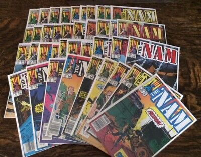 The 'nam Lot Issues #1-39 Vf/nm Marvel 1986 Mike Golden Vietnam War 39 Issues
