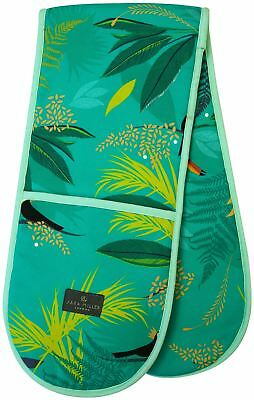 Sara Miller double oven glove toucan repeat