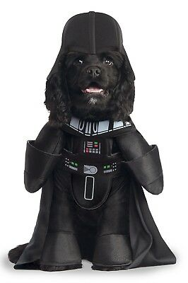 Star Wars Darth Vader Halloween Dog Costume Pet Dress Up Clothes, Medium Size