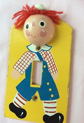 Vintage - Raggedy Andy Light Switch Cover Plate Hand Made