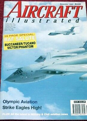 Aircraft Illustrated Magazine 1993 November Olympic,Victor,Phantom,Buccaneer,F15