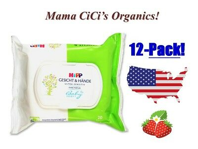 *** FREE SHIPPING *** HiPP Baby Soft ULTRA Sensitive Face and Hand Wipes, 240 ct