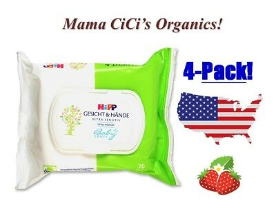 *** FREE SHIPPING *** HiPP Baby Soft ULTRA Sensitive Face and Hand Wipes, 80 ct