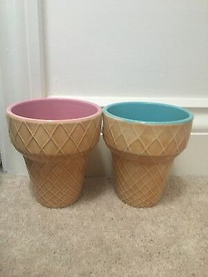 Ice Cream Bowls/Pink and Blue