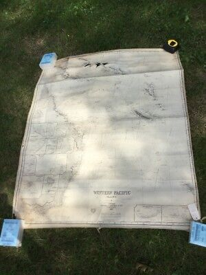 3 Antique Large School Linen Backed Map Charts James Imray London 1880's Pacific