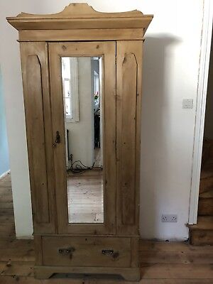 antique victorian Pine Wordrobe