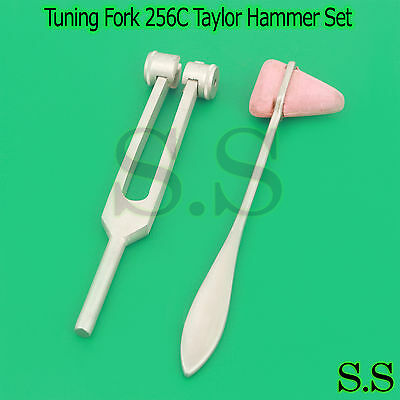 Hammer +Tuning Fork 256C ENT Surgical Medical Instruments Exam Diagnostic Tools