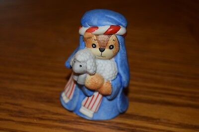 1987 Lucy and Me Bear SHEPHERD and LAMB Nativity set