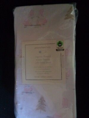Pottery barn KIDS ORGANIC FLANNEL WINTER BUNNY CRIB FITTED SHEET-NEW W/ TAGS-
