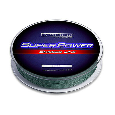 KastKing SuperPower Braided Fishing Line - (150 yards/15lb) - Green