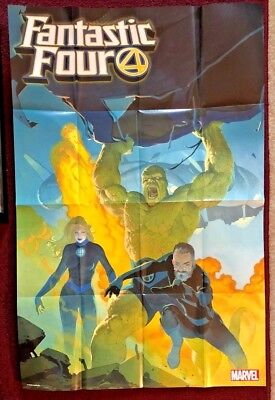 MARVEL NOW FANTASTIC FOUR 4 Retailer Exclusive Promo Folded Poster 2018 Hulk