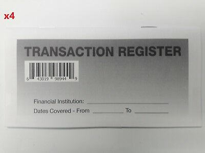 4 - Checkbook Transaction Registers - 2019-21 Calendar - Check Book Bank
