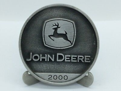 2000 John Deere Leaping Deer Logo Pewter Medallion
