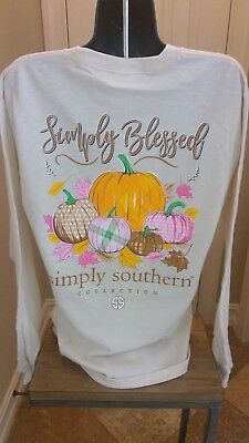 Simply Southern Long Sleeve T-Shirt:Simply Blessed (Pumpkin) - Pearl