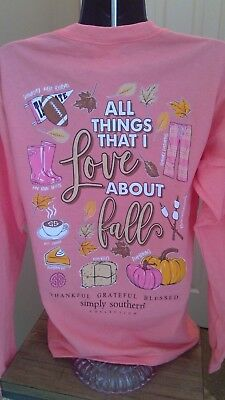 Simply Southern Long Sleeve T-Shirt: All Things That I Love About Fall - Sunglow