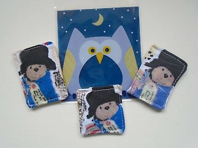 Cute Paddington Bear Catnip Squares Bags Cat Toy Cotton Fun Sent In Owl Bag