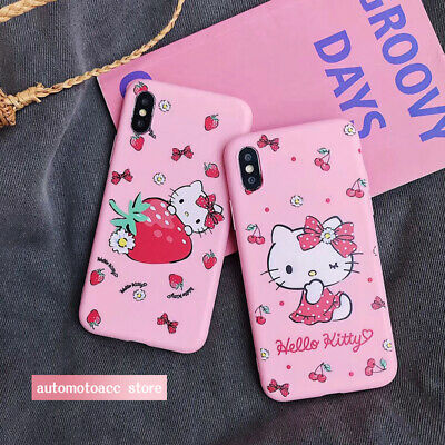 Hello Kitty Cartoon Matte Soft Phone Case Cover For IPhone XSMAX XR X 8/7