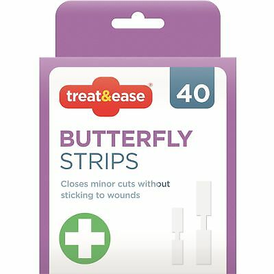 40 x Butterfly Closure Strips Stitches Minor Cut Non Stick Waterproof Plaster