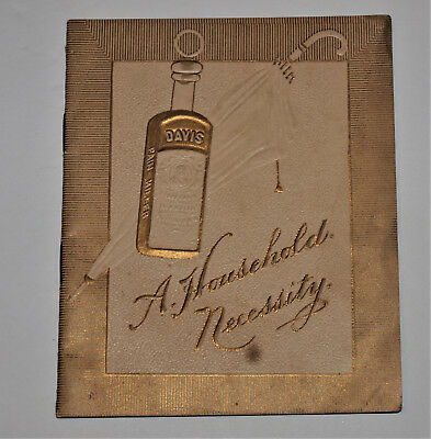 Antique Small Booklet for Davis Pain Killer,Les than 4 % Treated have Died !