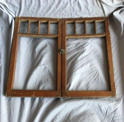 Antique Pair 5 Lite Window Sash Shabby Cottage Chic 32x18 Vtg 97-18C