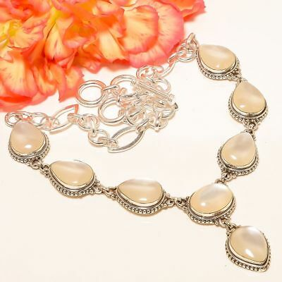 Mother Of Pearl Vintage Style 925 Sterling Silver Necklace 17.99 6096