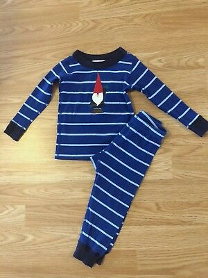 HANNA ANDERSSON Baby Boys Blue Gnome Elf Holiday Pajamas Size 80 18-24 Months