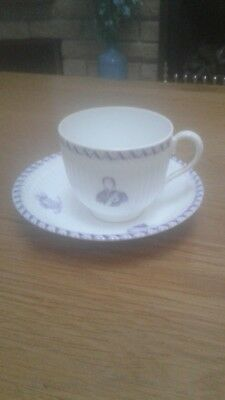 1863 china cup and saucer to commemorate the wedding of the Prince of Wales