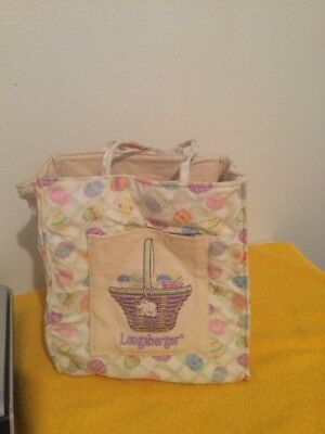 LONGABERGER EASTER HOMESTEAD TOTE BAG PURSE Easter Basket Youth Women's