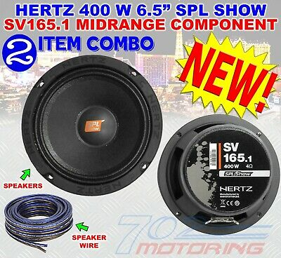 "HERTZ EMV 100.5 4/"" ENERGY 120W 4-OHM MIDRANGE CAR AUDIO MIDWOOFERS SPEAKERS NEW"