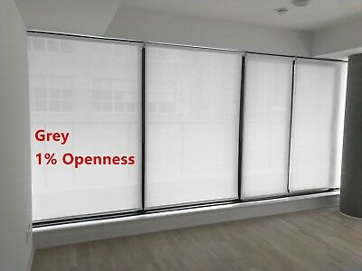 """Roller Shade 1% Openness """"Grey"""" Color  Blind Home Window Custom Made In Canada"""