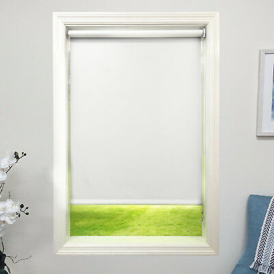 Linen color Roller Shade Vinyl Blackout Blind  Home Window Custom Made In Canada