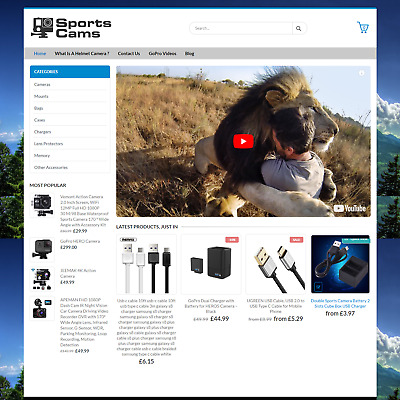 SportsCams.co.uk  Sports Camera Website eCommerce Business For Sale GoPro Action
