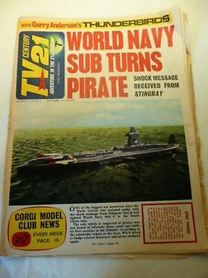 VINTAGE TV21 CENTURY COMIC No 74 18/06/66 GERRY ANDERSON THUNDERBIRDS