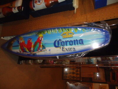 Mint Corona Wood 4 Ft. Surfboard Beer Bar Sign Man Cave   Wow Beach Great