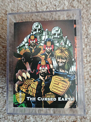 judge dredd 2000AD edge trading cards set cube comic