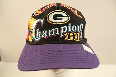 NWT LOGO ATHLETIC Green Bay Packers Hat Super Bowl XXXI 31 Champions ... 165656d72