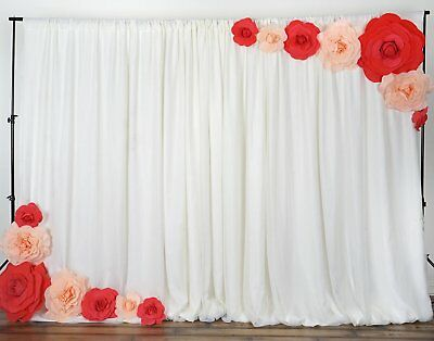 6 Pack - 8 Inch Foam Roses DIY Craft Wedding Party Backdrop Photo Wall Decor