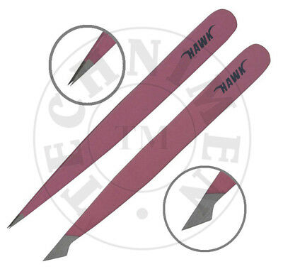 Facial Eyebrow Hair Removing Beauty Pinzette Combi Fine Pointed Tip Tweezers