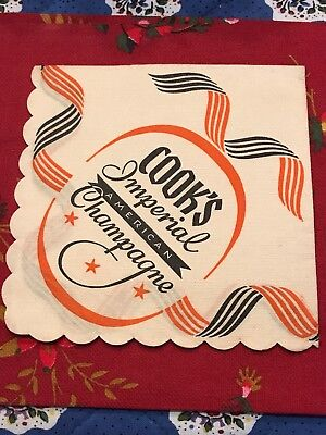 Vinage Paper Cocktail Napkin Cook's Imperial American Champagne St. Louis