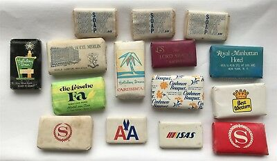 Job Lot 15 Vintage Travel Soaps AA, Trans Siberian, Hotels + Mixed Others